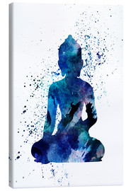 Canvas print  Blue Buddha - Dani Jay Designs