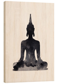 Wood print  Buddha design - Dani Jay Designs