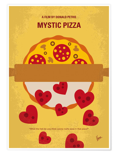 Premium poster No846 My Mystic Pizza minimal movie poster
