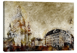 Canvas print  Dresden Frauenkirche market abstract - Michael artefacti