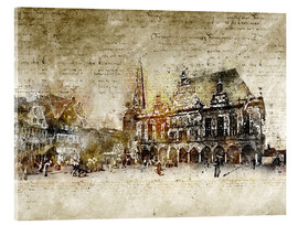 Acrylic glass  Bremen market marketplace modern and abstract - Michael artefacti