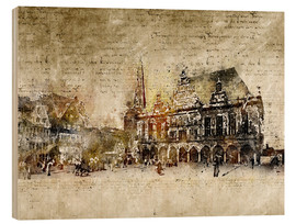 Wood  Bremen market marketplace modern and abstract - Michael artefacti