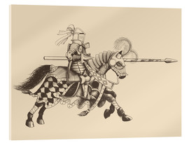 Acrylic print  Knight with armor and horse