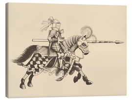 Canvas print  Knight with armor and horse