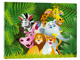 Acrylic glass  My jungle animals - Kidz Collection