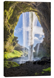 Canvas print  Kvernufoss waterfall in south of Iceland - Dieter Meyrl