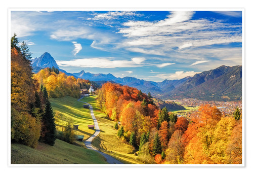 Premium poster Autumn in Bavaria - Garmisch Patenkirchen