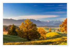 Poster  Autumn in Bavaria with view to Zugspitze - Dieter Meyrl