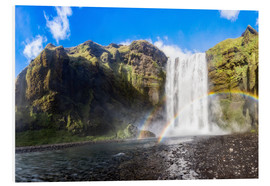 Foam board print  Skogafoss waterfall in south of Iceland - Dieter Meyrl