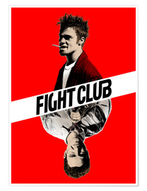 Poster  Fight club two face - Paola Morpheus