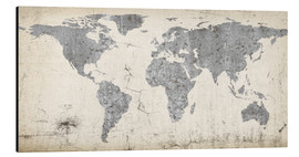 Alu-Dibond  Vintage world map