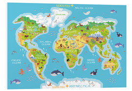 Kidz Collection - World map with animals - English