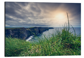 Alu-Dibond  View over the cliffs of Moher, Ireland