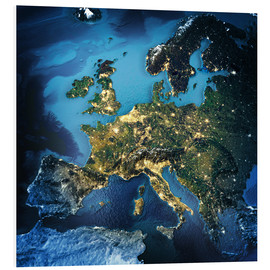 Forex  Europe from space, NASA 3D rendering