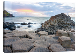 Canvas print  Sunset at Giant's Causeway in North Antrim, Northern Ireland