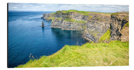 Aluminium print  The famous cliffs of Moher in Ireland