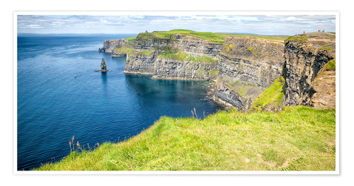 Premium poster The famous cliffs of Moher in Ireland