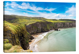 Canvas  Carrick-a-Rede, Coast of Northern Ireland