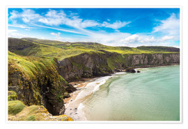 Premium poster  Carrick-a-Rede, Coast of Northern Ireland