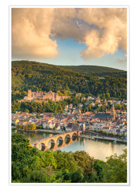 Premium poster  Heidelberg in the evening sun - Michael Valjak