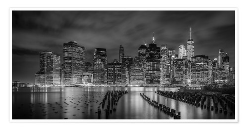 Premium poster NEW YORK CITY Idyllic Impressions at night
