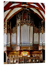 Foam board print  Organ in St. Thomas Church, Leipzig music trail - imageBROKER
