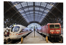 Foam board print  ICE and InterRegio trains in the central station - imageBROKER