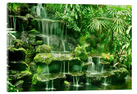 Acrylic glass  Erawan waterfall in Thailand - imageBROKER