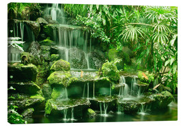 Canvas print  Erawan waterfall in Thailand