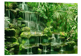 Foam board print  Erawan waterfall in Thailand - imageBROKER