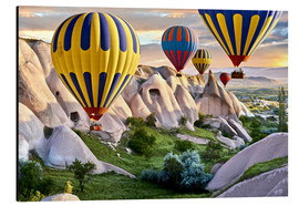 Alu-Dibond  Balloons over the Tuff Rock of Turkey - imageBROKER