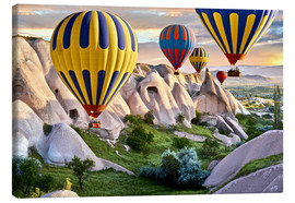 Canvas  Balloons over the Tuff Rock of Turkey - imageBROKER