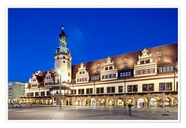 Premium poster  Old Town Hall, Leipzig - imageBROKER