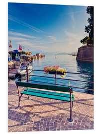 Forex  Bench on the coast of Garda in Peschiera