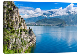 Canvas print  Summer view over Lake Garda
