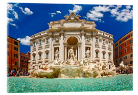 Acrylic glass  Trevi Fountain or Fontana di Trevi in ??summer