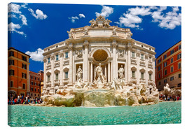 Canvas print  Trevi Fountain or Fontana di Trevi in ??summer