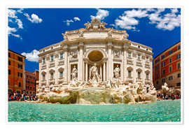 Premium poster  Trevi Fountain or Fontana di Trevi in ??summer