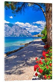 Acrylic glass  Beautiful Lago di Garda panoramic view, Italy