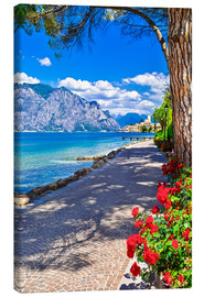 Canvas  Beautiful Lago di Garda panoramic view, Italy