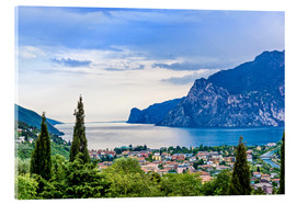 Acrylic print  View of Riva Del Garda and Lake Garda, Italy