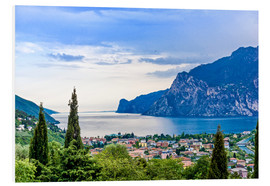 Foam board print  View of Riva Del Garda and Lake Garda, Italy