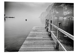Foam board print  Wooden bridge on Lake Garda, Italy
