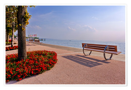 Premium poster Picturesque Bardolino, promenade on Lake Garda
