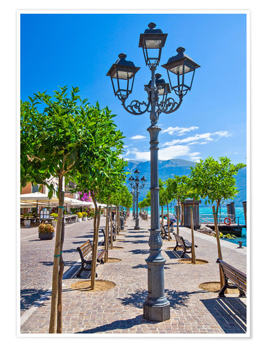 Premium poster Village of Gargnano, Lake Garda Italy