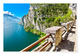 Poster Summer view over Lake Garda