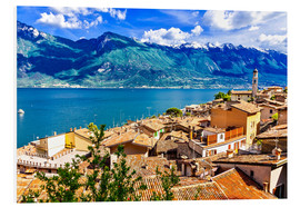 Forex  Beautiful Limone village, panoramic view, Lago di Garda, Italy