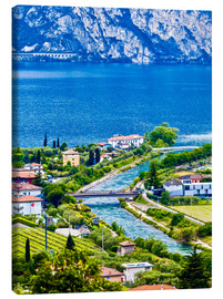Canvas print  View of Lake Garda in Northern Italy