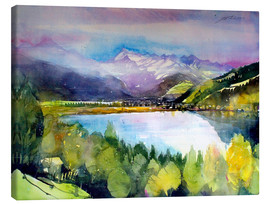 Canvas print  View to Lake Zell - Johann Pickl