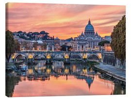 Canvas print  Rome in the evening - Jörg Gamroth